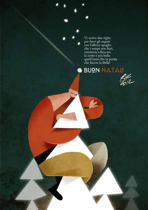 Christmas 2012 by Riccardo Guasco, via Behance