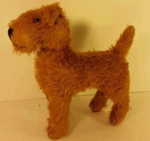 Antique Irish Terrier Airedale Welsh Oorang Plush Made In Ireland Squeaks Irish Terrier Antiques Plush