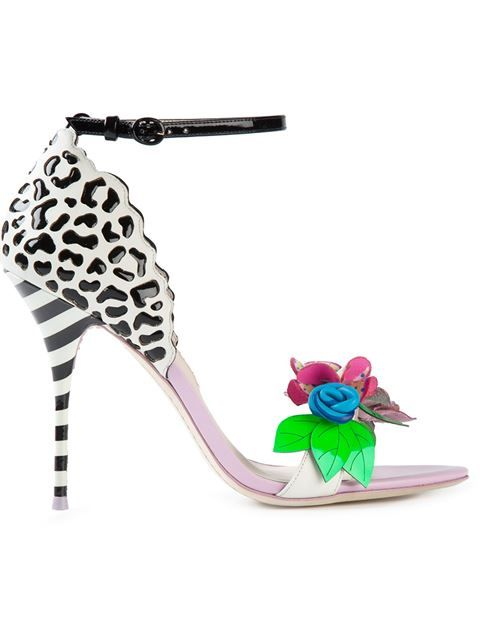 a2ee117fb869 Shop Sophia Webster printed embellished stiletto sandals in Anita Hass from  the world s best independent boutiques at farfetch.com. Over 1000 designers  from ...