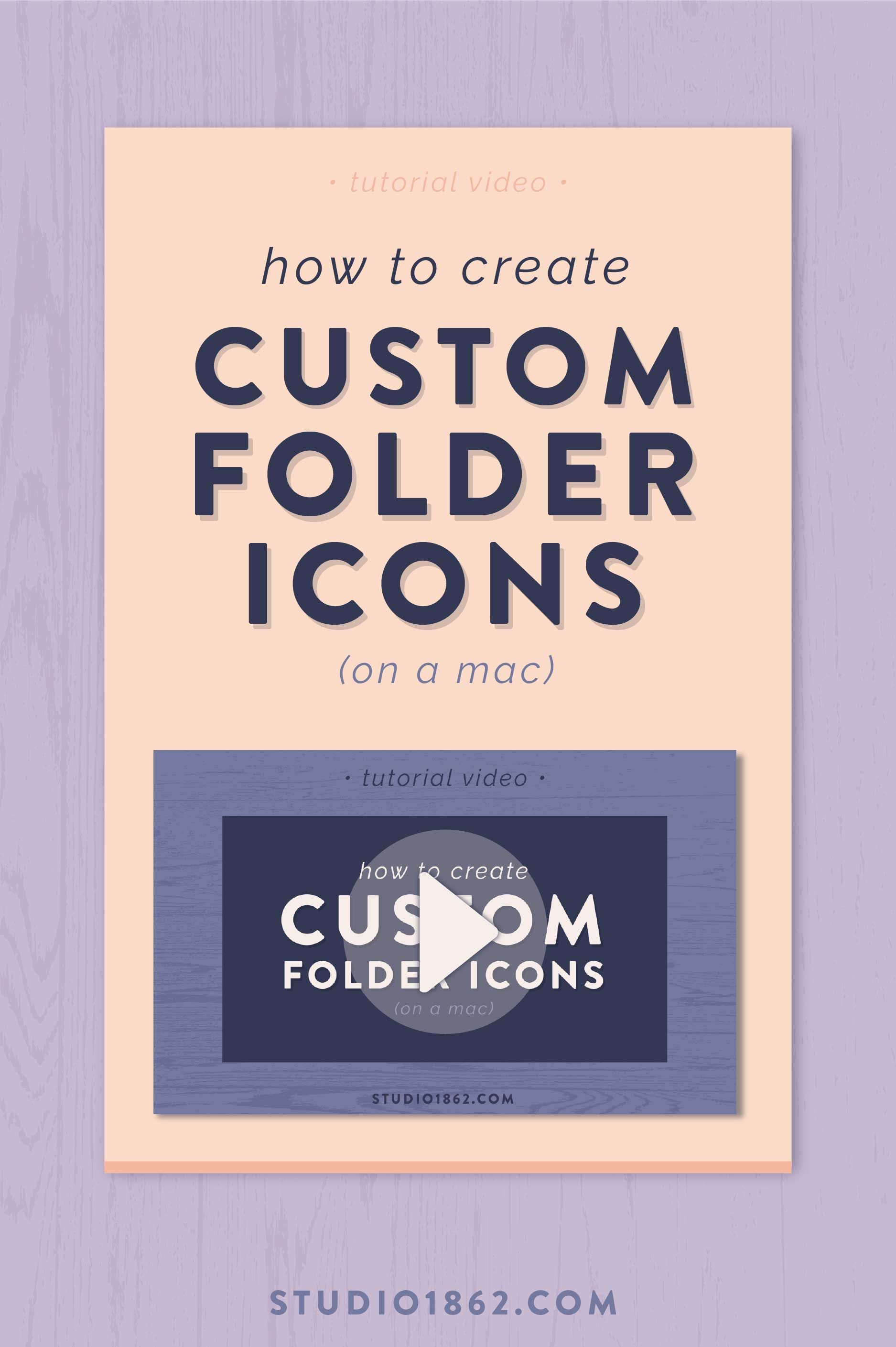 How to Create Custom Folder Icons (on a Mac) | Design Tips +