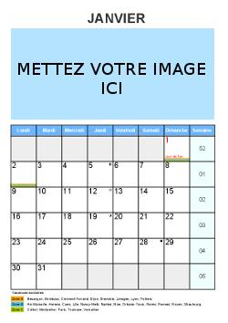 Un calendrier mensuel à personnaliser | Calendrier personnalisé