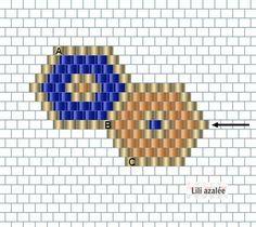Bracelet intercalaire hexagonal et tissage brickstitch #crochetelements