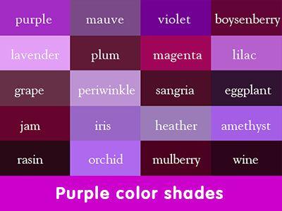 Purple Colour Shades Purple Color Palettes Purple Color Shades Of Purple