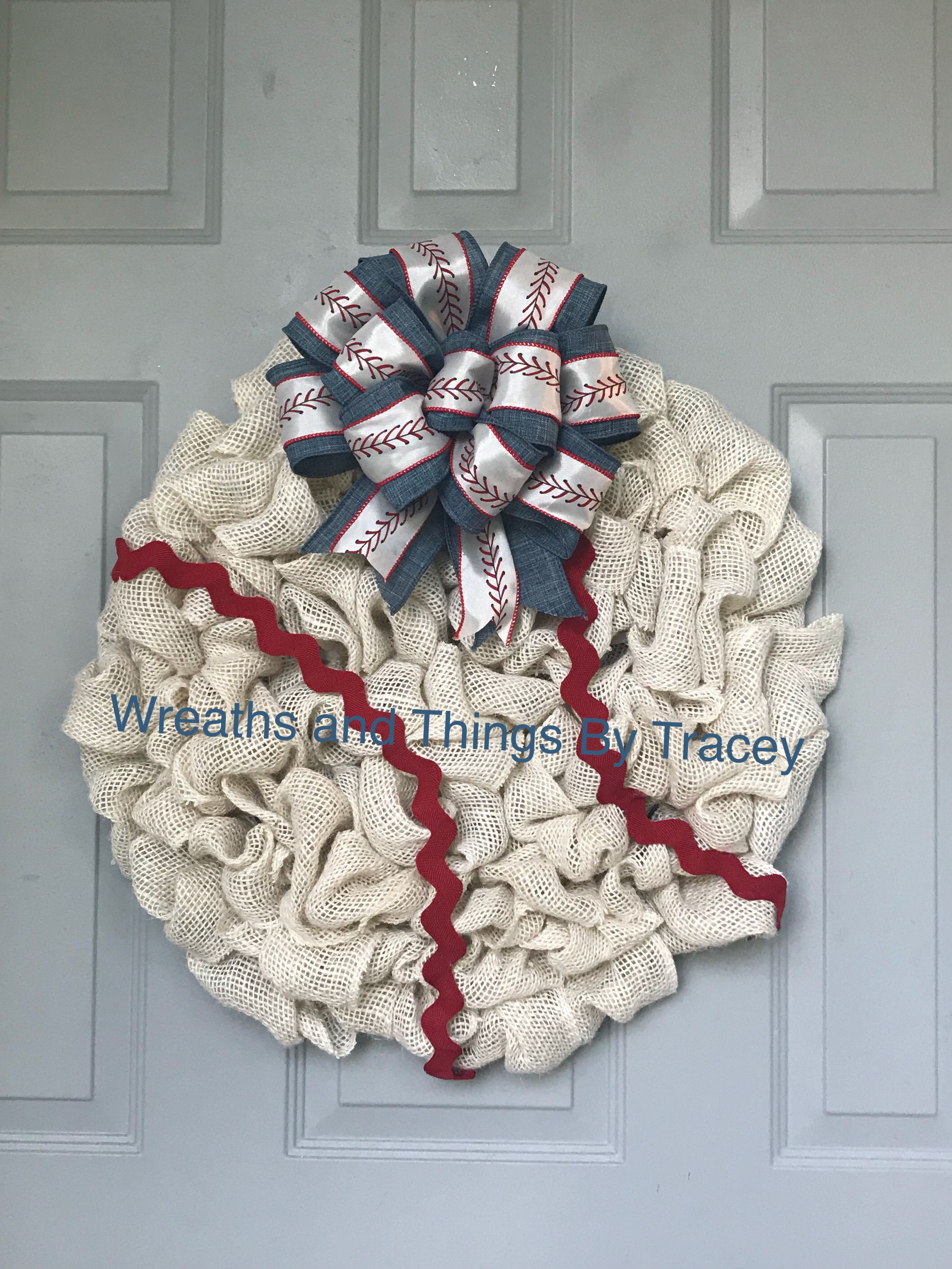 Baseball 2   Burlap   2018   Wreaths And Things By Tracey