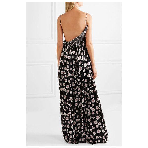 Ruffled Floral-print Silk-jacquard Gown - Pink Balenciaga Clearance Order oMbBXNJl