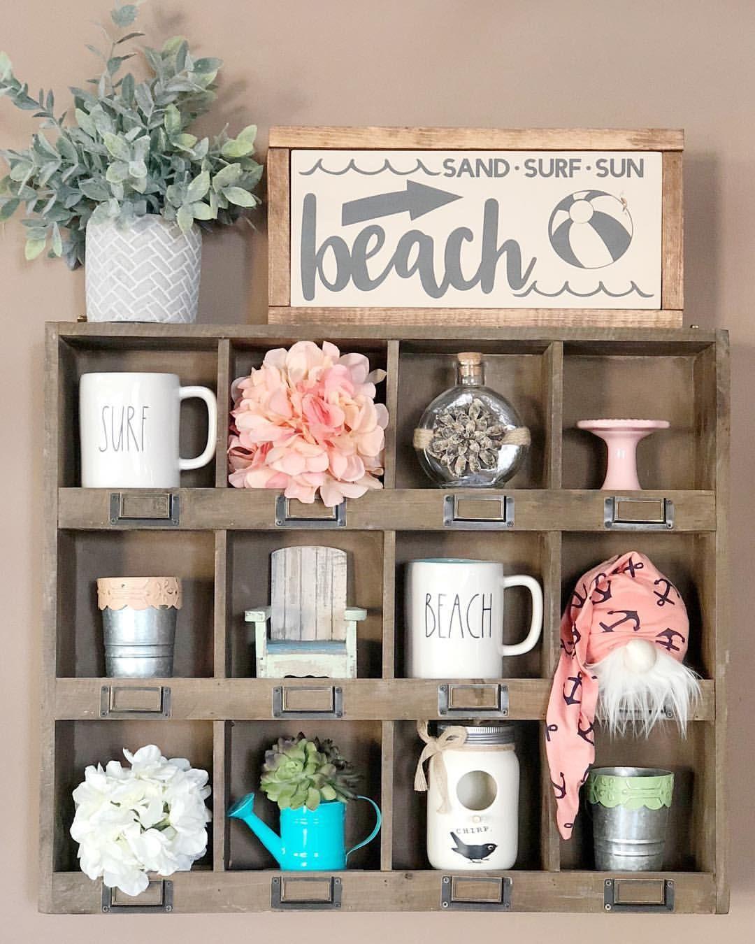 Hobby Lobby Shelf With Beach Decor Wall Cubby Decor Hobby