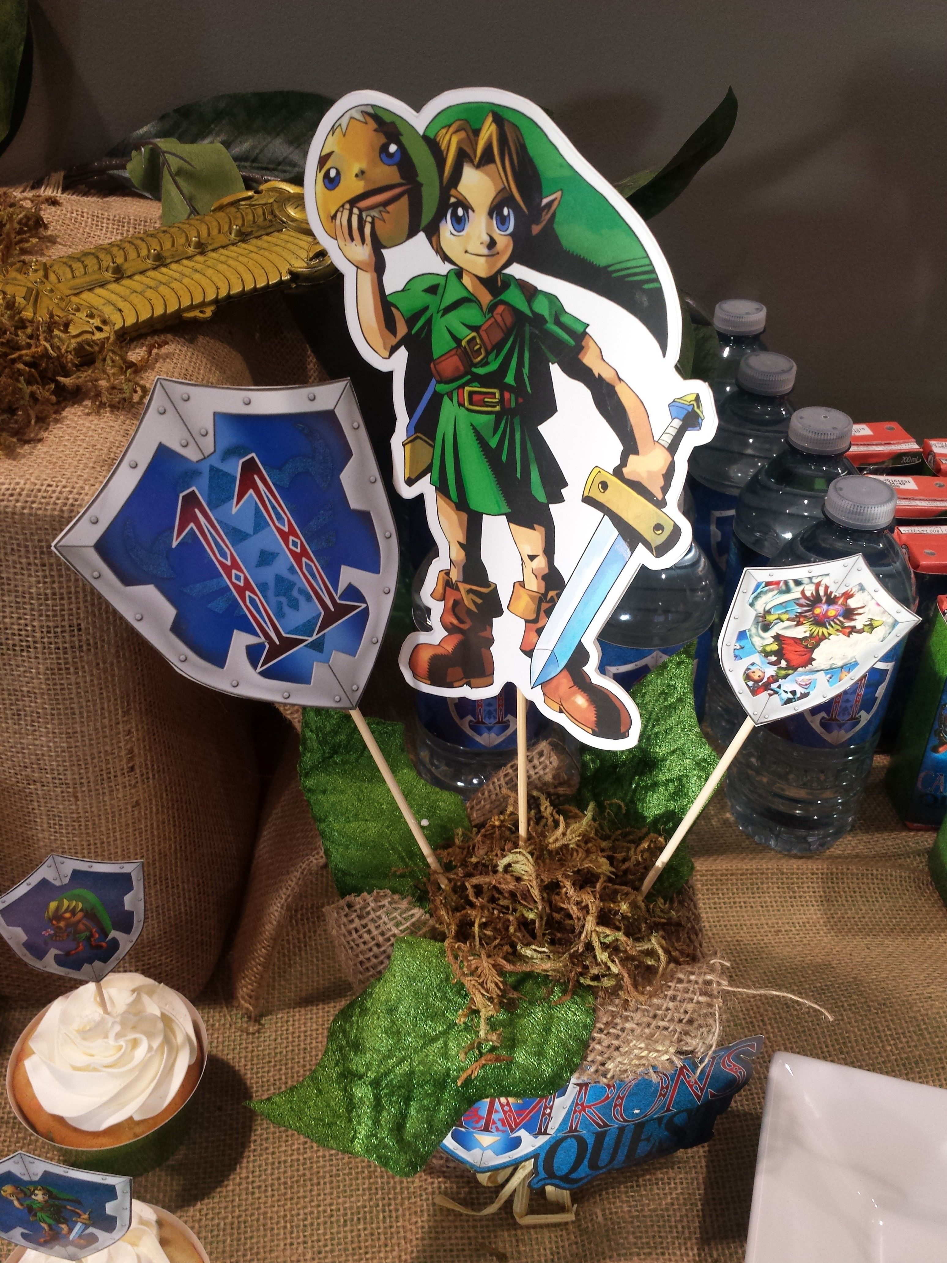 Zelda Centerpiece Birthday Decorations Printable By Epic Parties