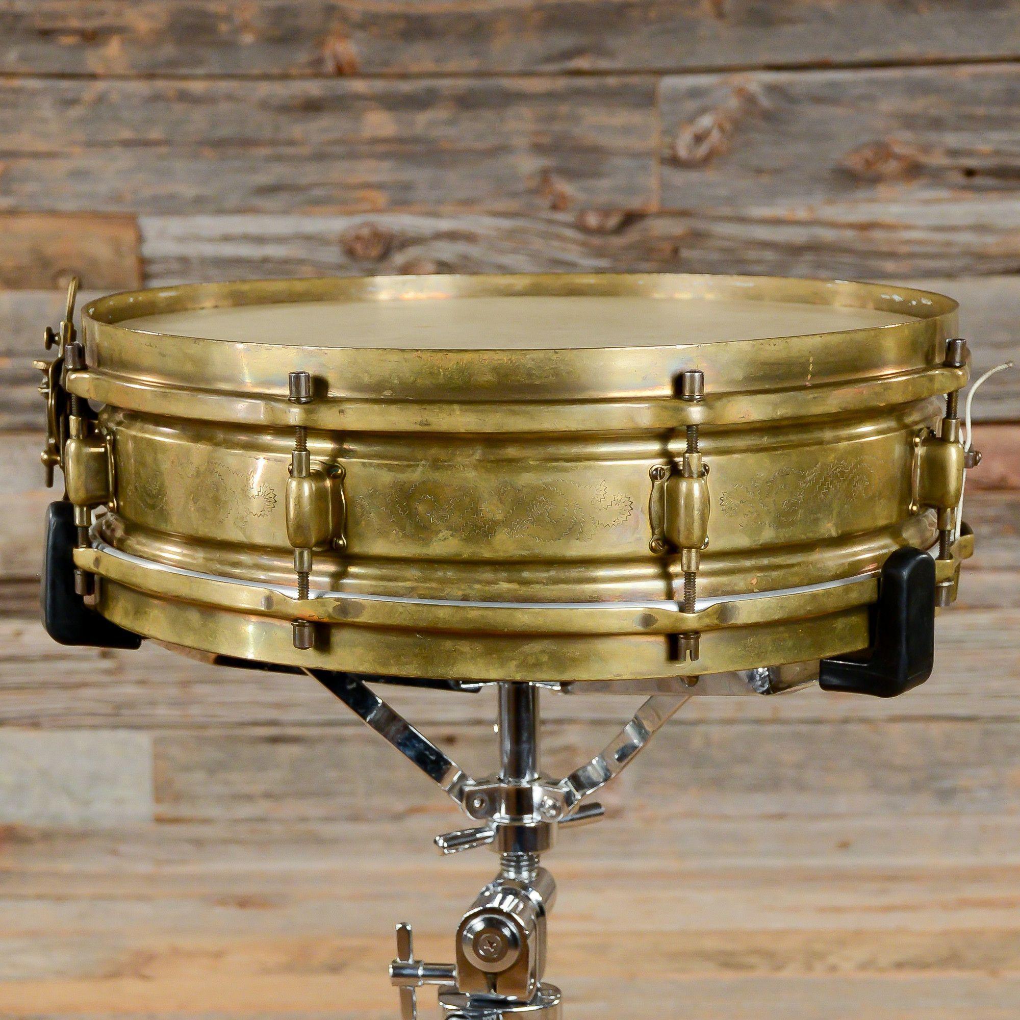 Leedy 4x14 Black Elite Snare Drum 30s