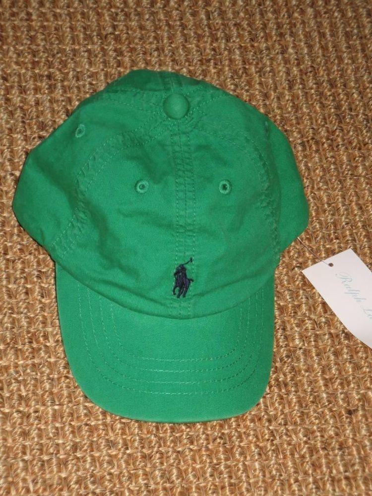 2b89d9cb3 NEW POLO RALPH LAUREN BABY BOY S BASEBALL CAP 12 - 24 MONTHS GREEN NWT   PoloRalphLauren