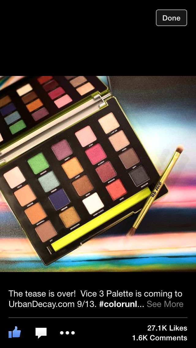 Urban decay vice 3!  #urbandecay#makeup#eyeshadow#fall2014#palette