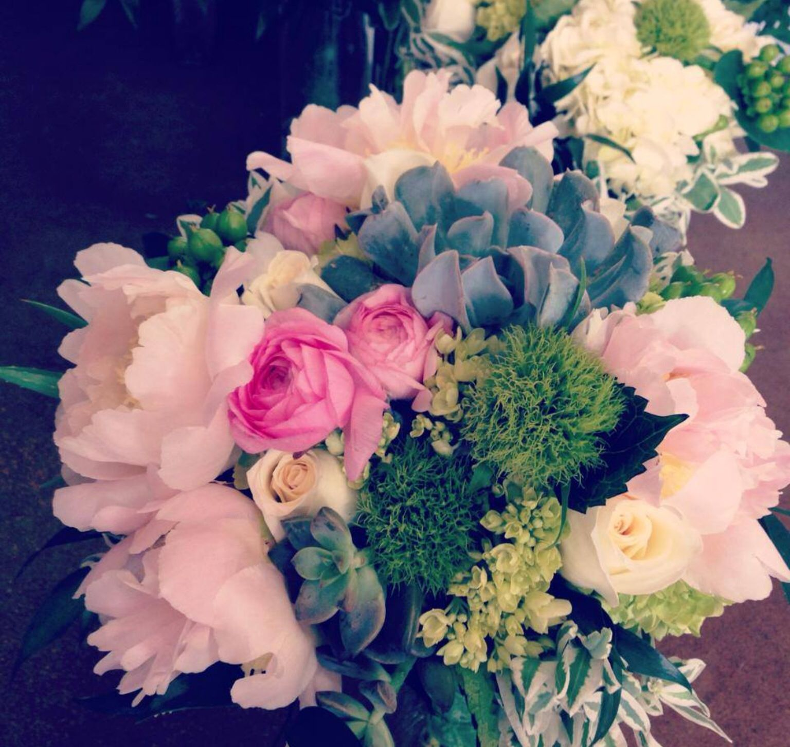 Pink and natural green bridal bouquet The Flower Bucket Austin ...