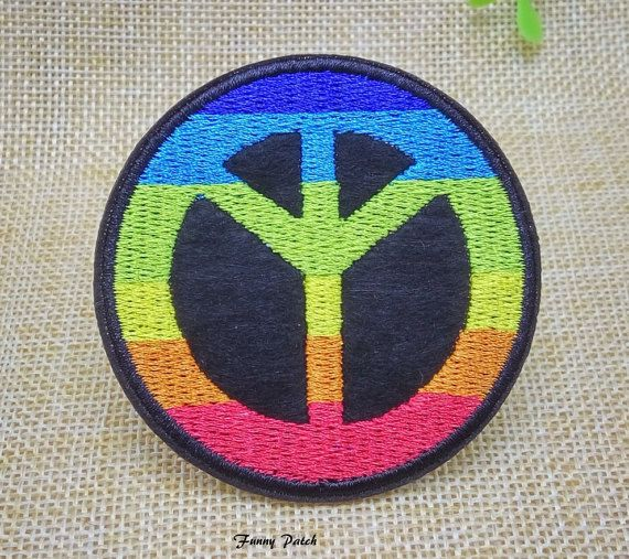 Symbol Of World Peace Patch Colorful Embroidered By Funnypatch The