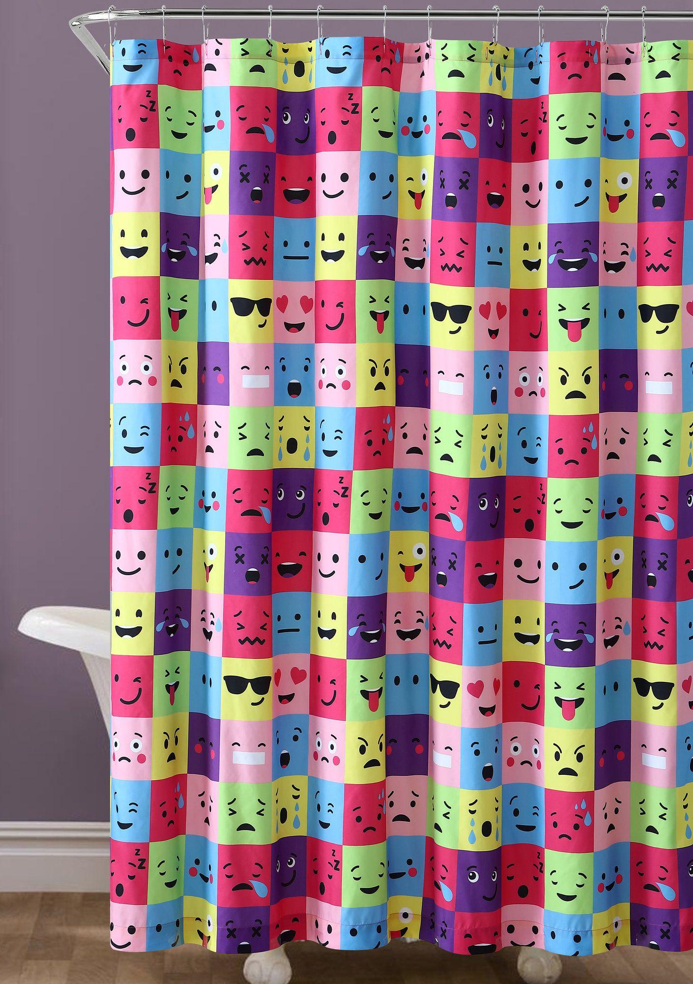 Neve Emoji Square Shower Curtain