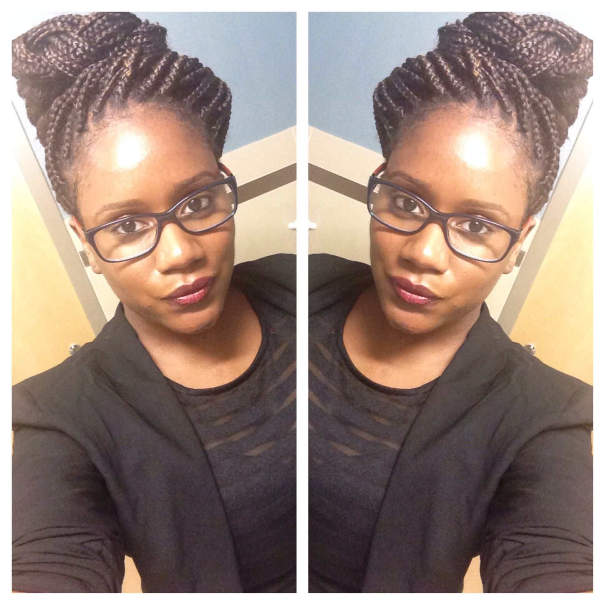 Box Braids Pinned Up Protectivehairstyle Naturalhair