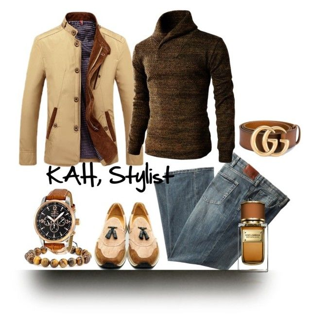 Gents Style Files by kimberlyannhawes on Polyvore featuring Invicta, Gucci, Dolce&Gabbana, men's fashion and menswear