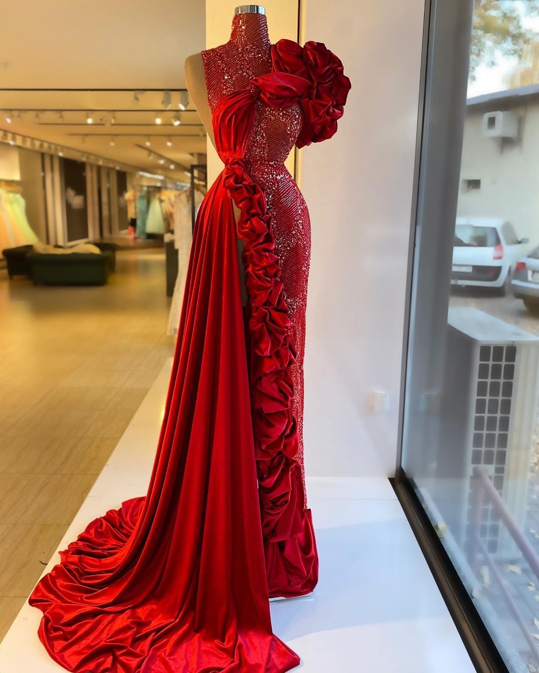minna fashion house ~ red dress, for online orders contact +