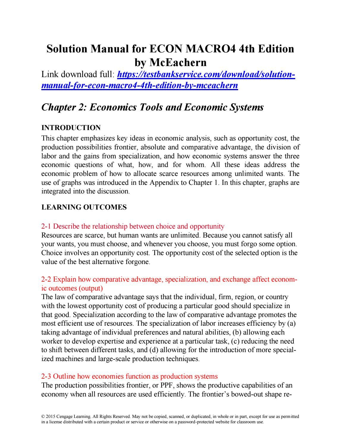 ... Array - solution manual for econ macro4 4th edition by mceachern  solutions rh pinterest com