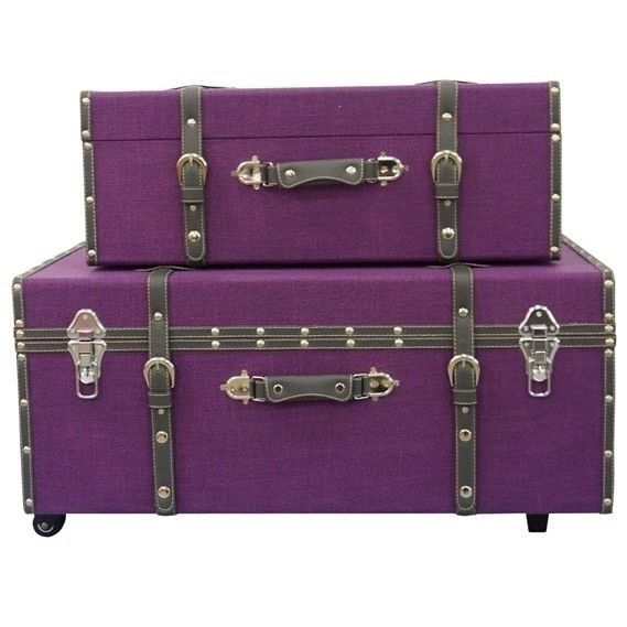 Foot Locker Storage Chest Prepossessing Dorm Trunk College Room Foot Locker Storage Student Purple Chest Decorating Inspiration