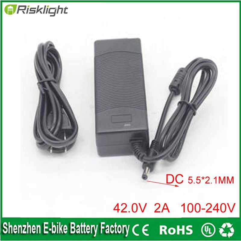 Free Shipping 10 Series 42v Dc Charger 2a 36v Lithium Battery Charger For E Bike Electric Bicylce Powe Lithium Battery Charger E Bike Battery Battery Charger