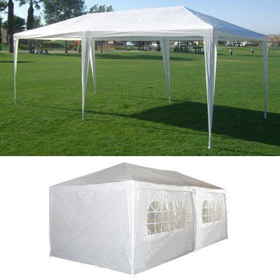 Amazon Com 10 X 20 White Party Tent Gazebo Canopy With Sidewalls Patio Lawn Garden Patio Canopy Party Tent Gazebo Canopy