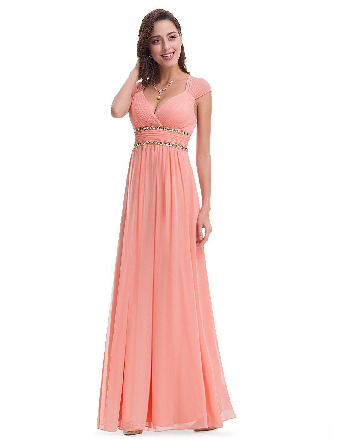 2272f814c6cd Ever-Pretty Womens Floor Lenth Short Sleeve Graduation Dress 08697 ...