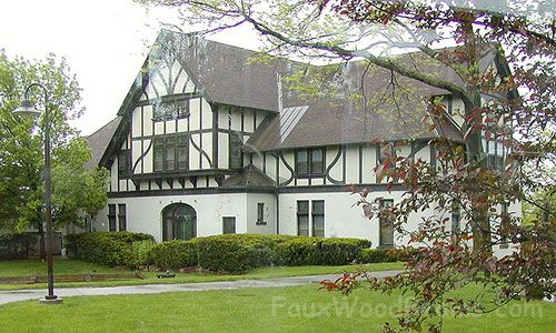 Tudor Style Home faux wood planking on tudor revival homes is remarkably durable