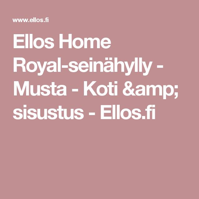 Ellos Home Royal-seinähylly - Musta - Koti & sisustus - Ellos.fi