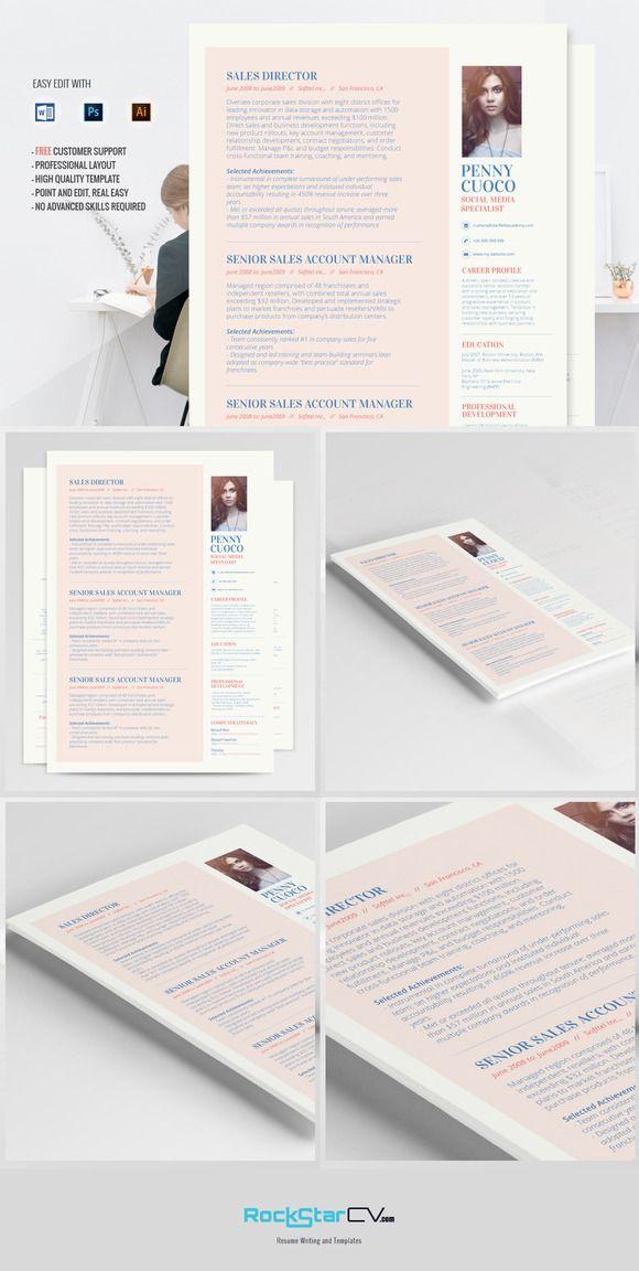 Resume Template - Alhena - Minimalist Resume, Clean Resume, Retail - retail resume template
