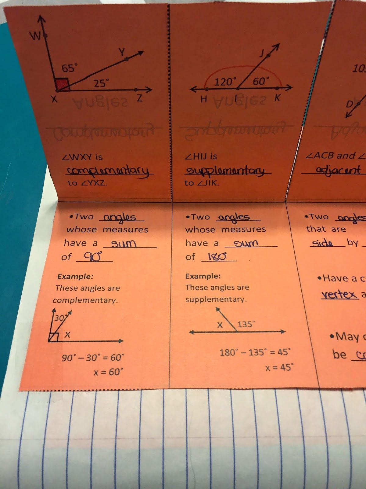 Misscalcul8 Geometry Unit 3 Angles And Lines Interactive Notebook