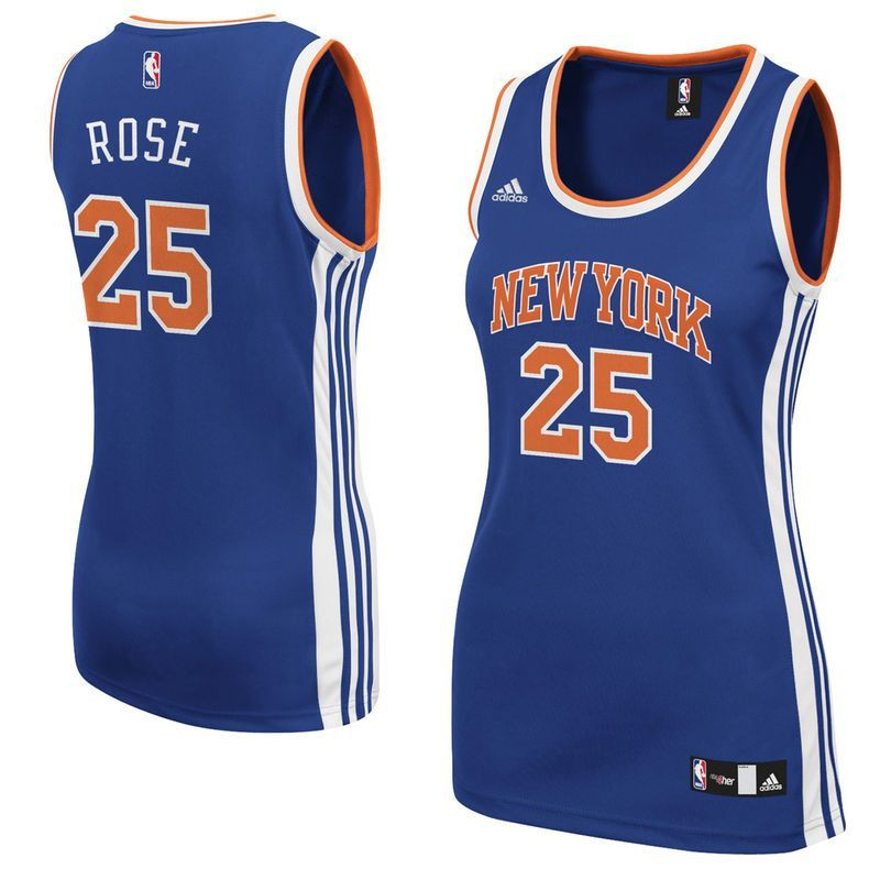 Derrick Rose New York Knicks adidas Women s Replica Jersey - Royal ... 9f1471087
