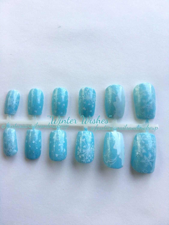 Winter nails, winter holiday nails, snowflake nails, Christmas nails ...