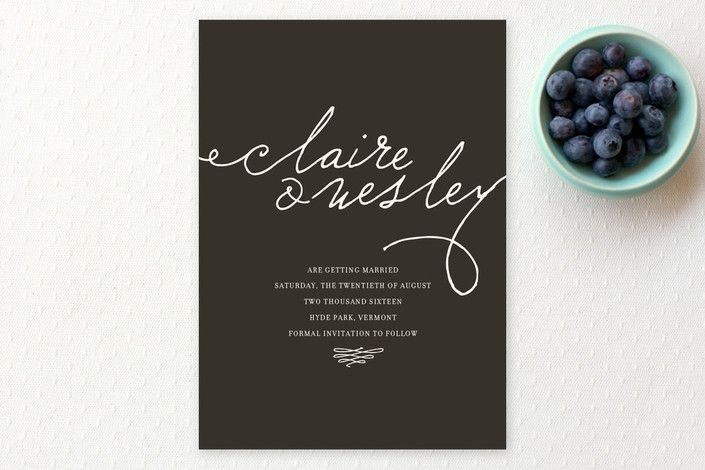 Love Letter Save the Date Cards by annie clark at minted - Formal Invitation Letters