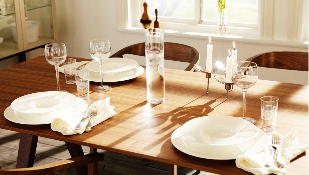 Ikea Stockholm Tisch esszimmer eingerichtet mit produkten aus der stockholm kollektion