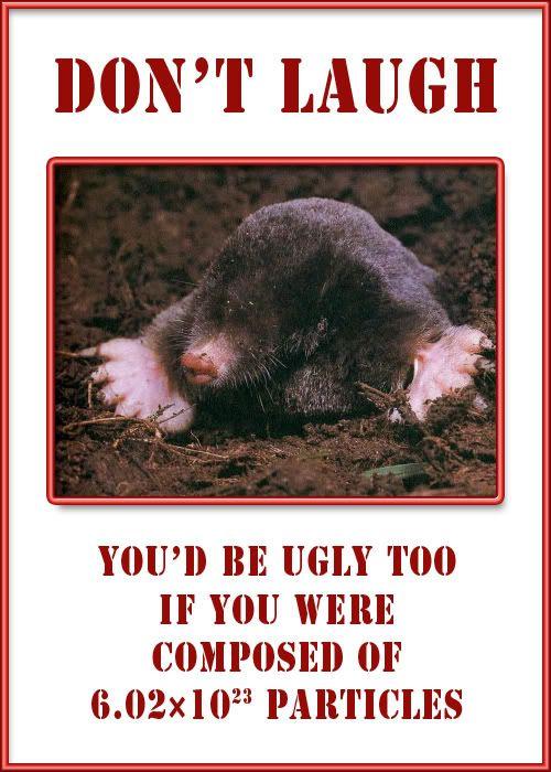 001 Chemistry Mole Day For Today Mole repellent, Mole day
