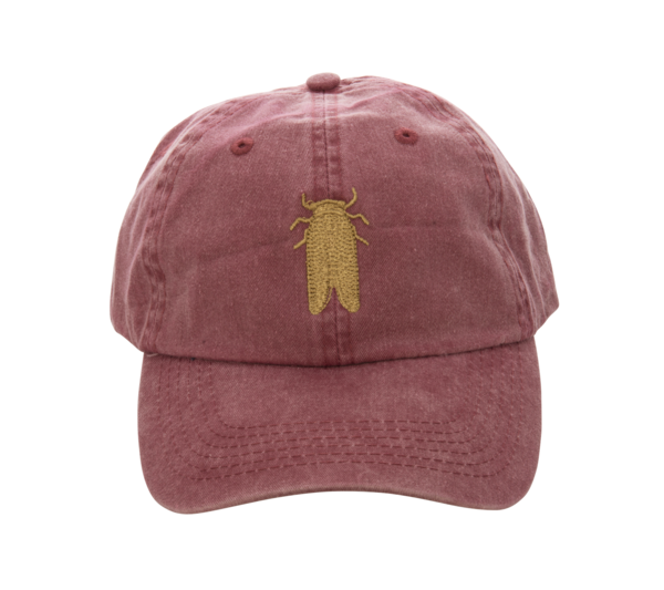 376342bb817 Goldbug Collection s classic hat in  Charleston Brick Red  with an  embroidered goldbug Limited Edition