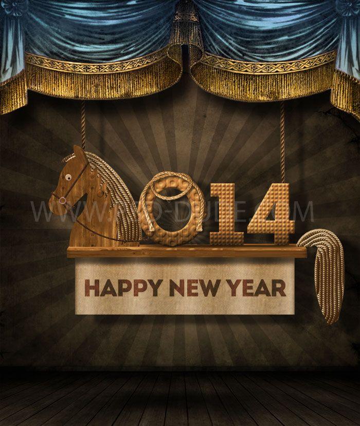 Happy New Year Vintage Old Card Tutorial