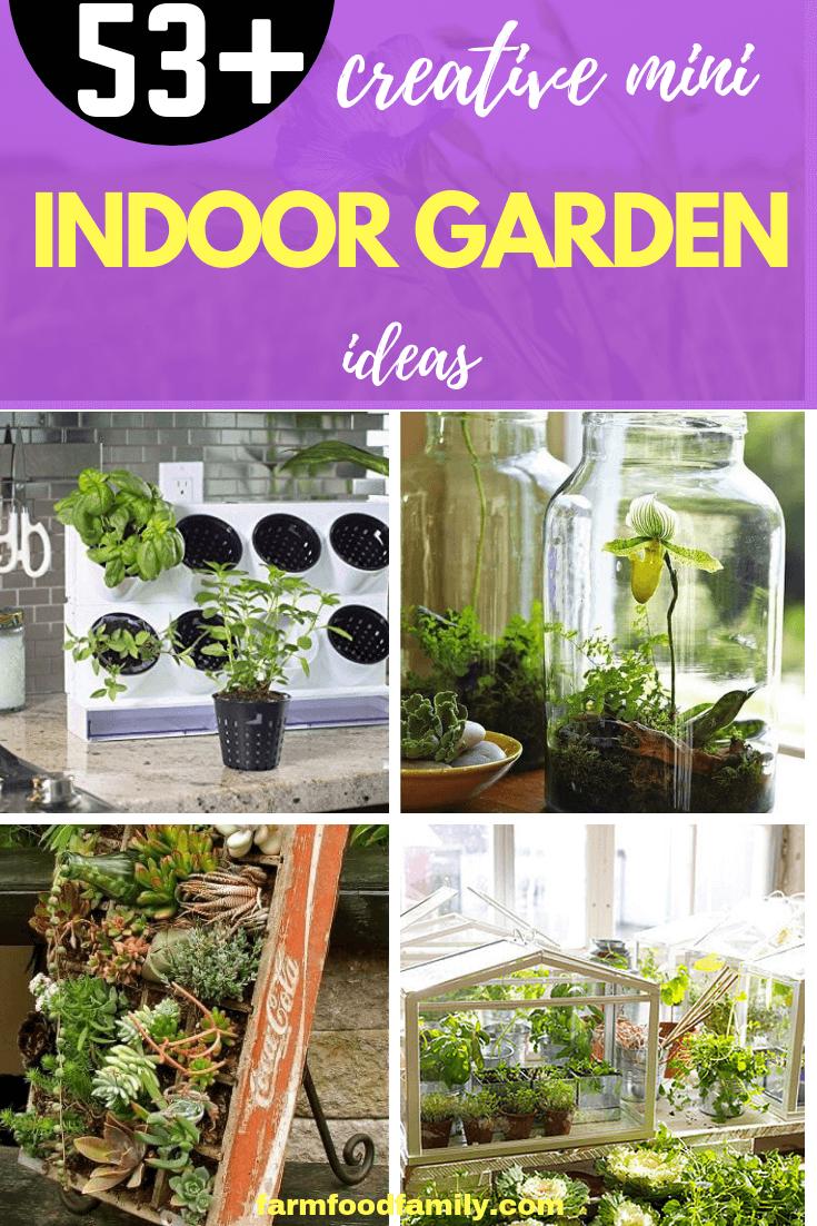 53 Creative Mini Indoor Garden Ideas In 2020 Indoor Garden