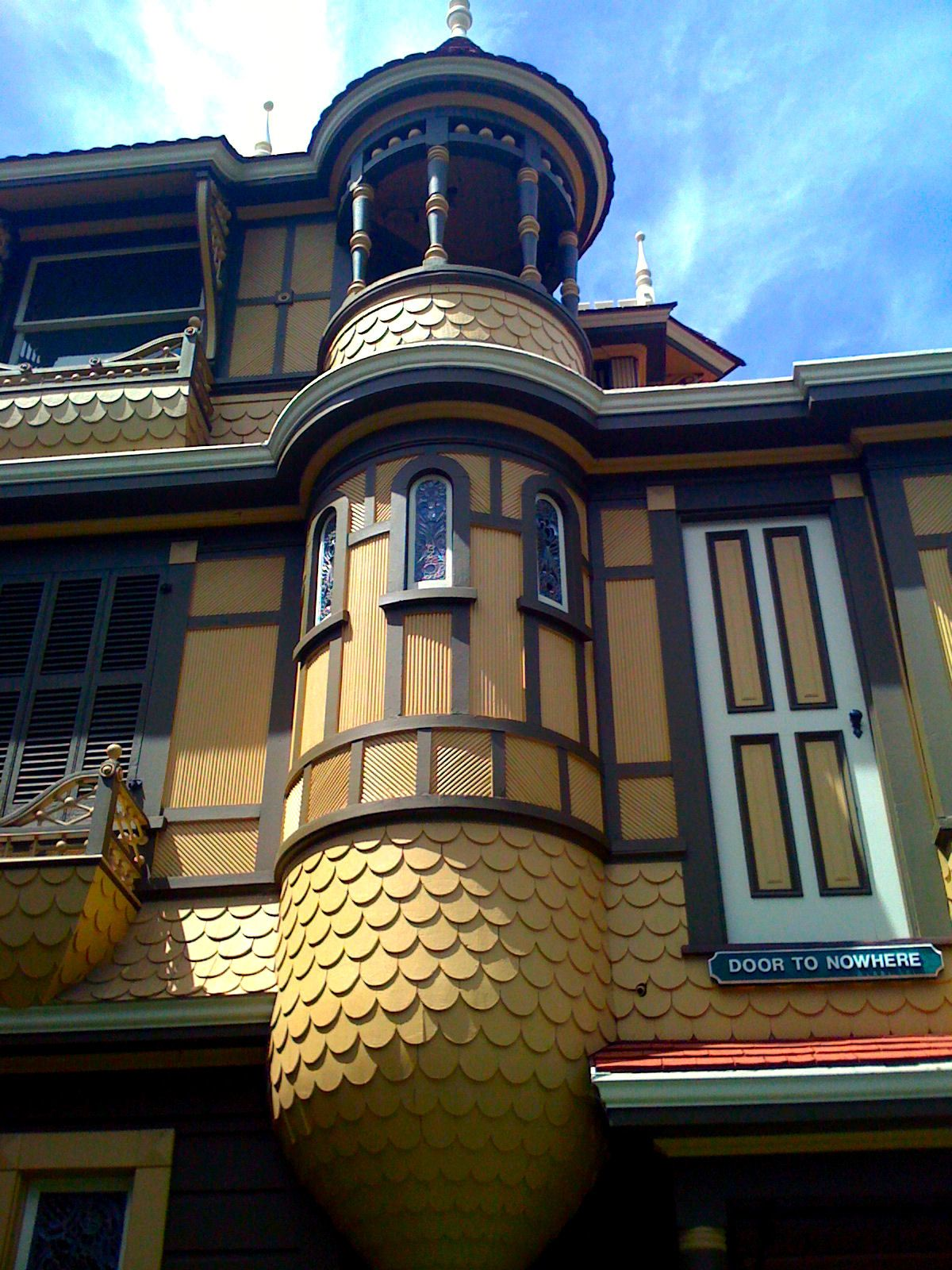 statues fountain and facade winchester mystery house san jose