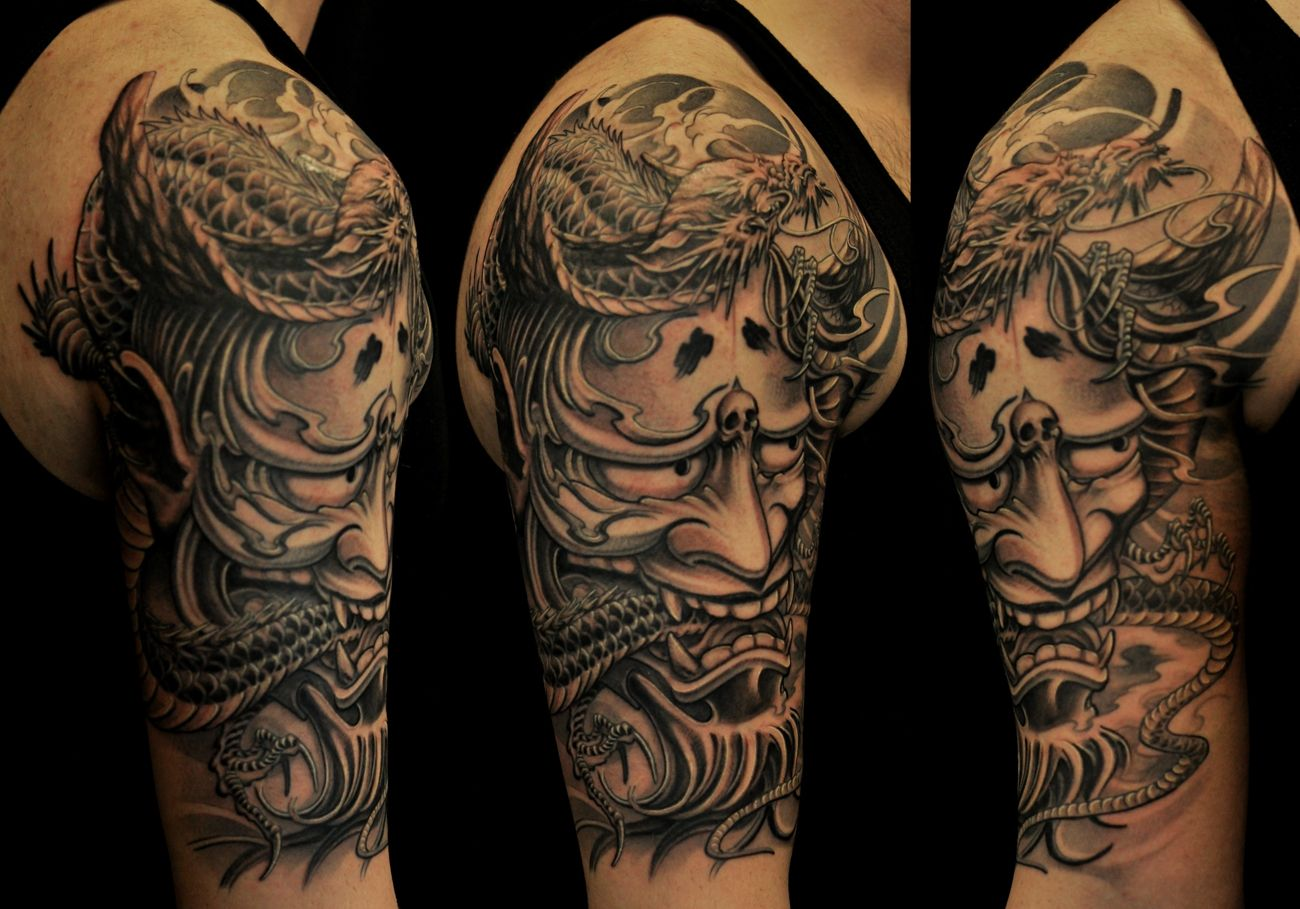 hannya mask tattoo designs japanese sleeve tattoo