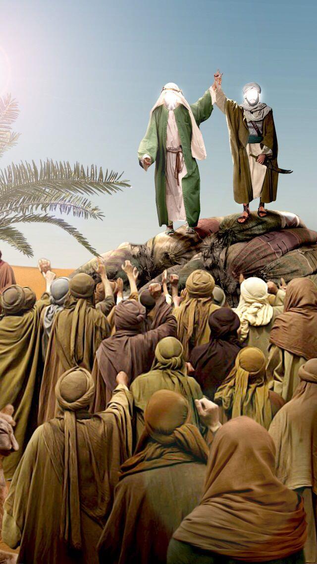 قال نبينا الاكرم في بيعة الغدير من كنت مولاه فعلي مولاه اللهم والي من والاه وعادي من عاداه وانصر من نصره واخذ Islamic Pictures Islamic Paintings Shia Islam