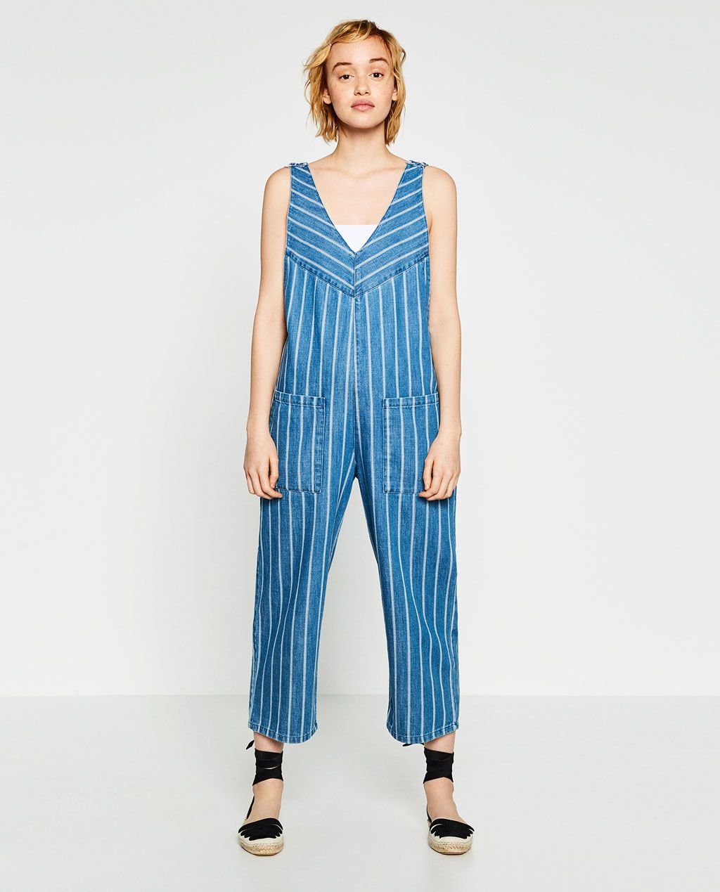 STRIPED DENIM JUMPSUIT-Collection-TRF-NEW IN | ZARA Russian ...