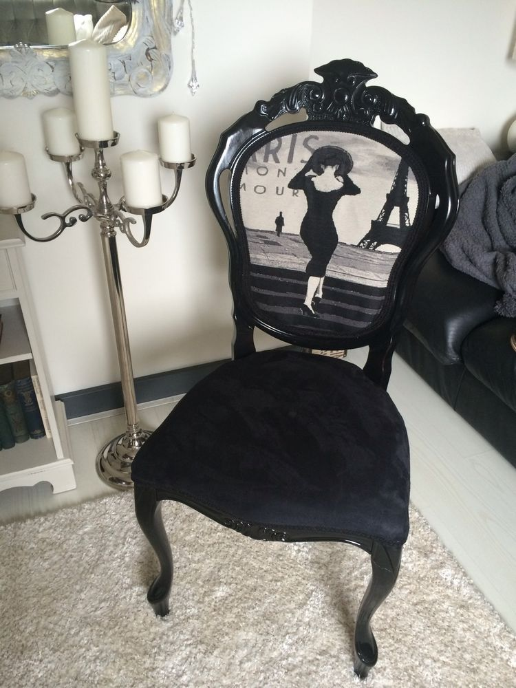 French shabby chic chair louis style boudoir id e for Maison chic shabby chic