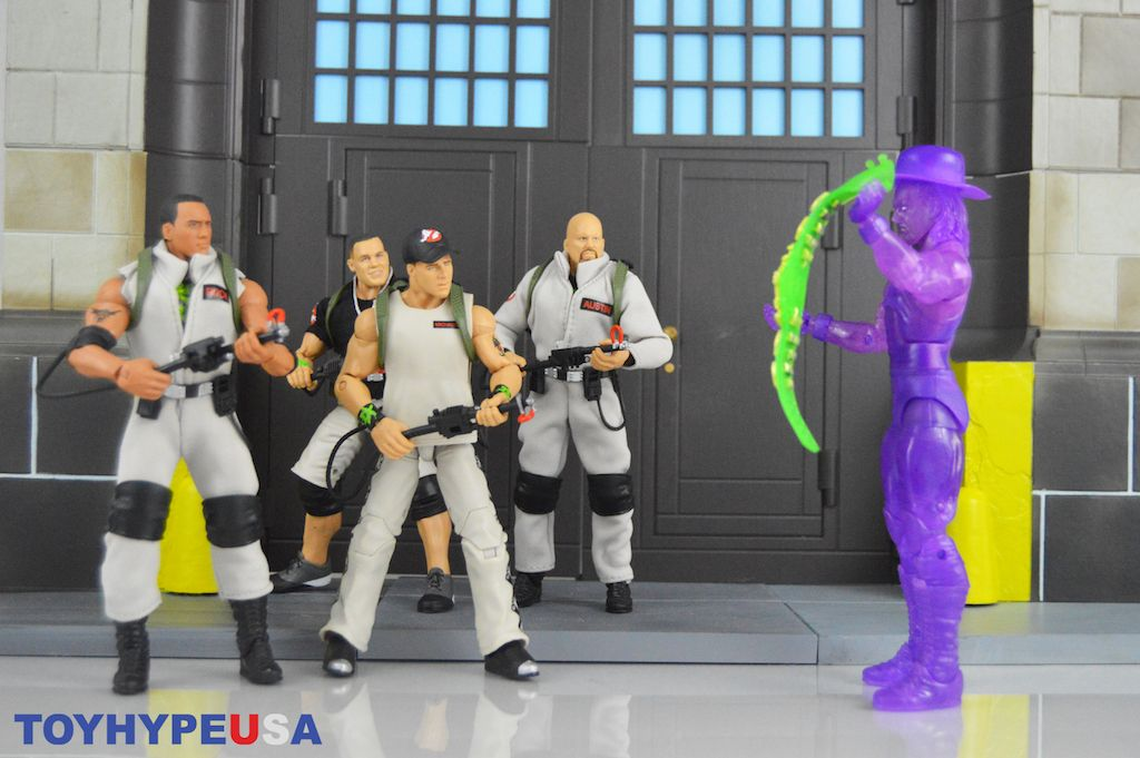 WWE Mattel The Rock Elite Series Ghostbuster Figure Wal Mart Exclusive
