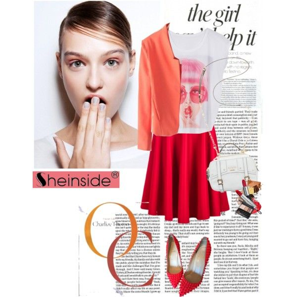 A fashion look from February 2015 featuring Christian Louboutin pumps and GUESS shoulder bags. Browse and shop related looks.