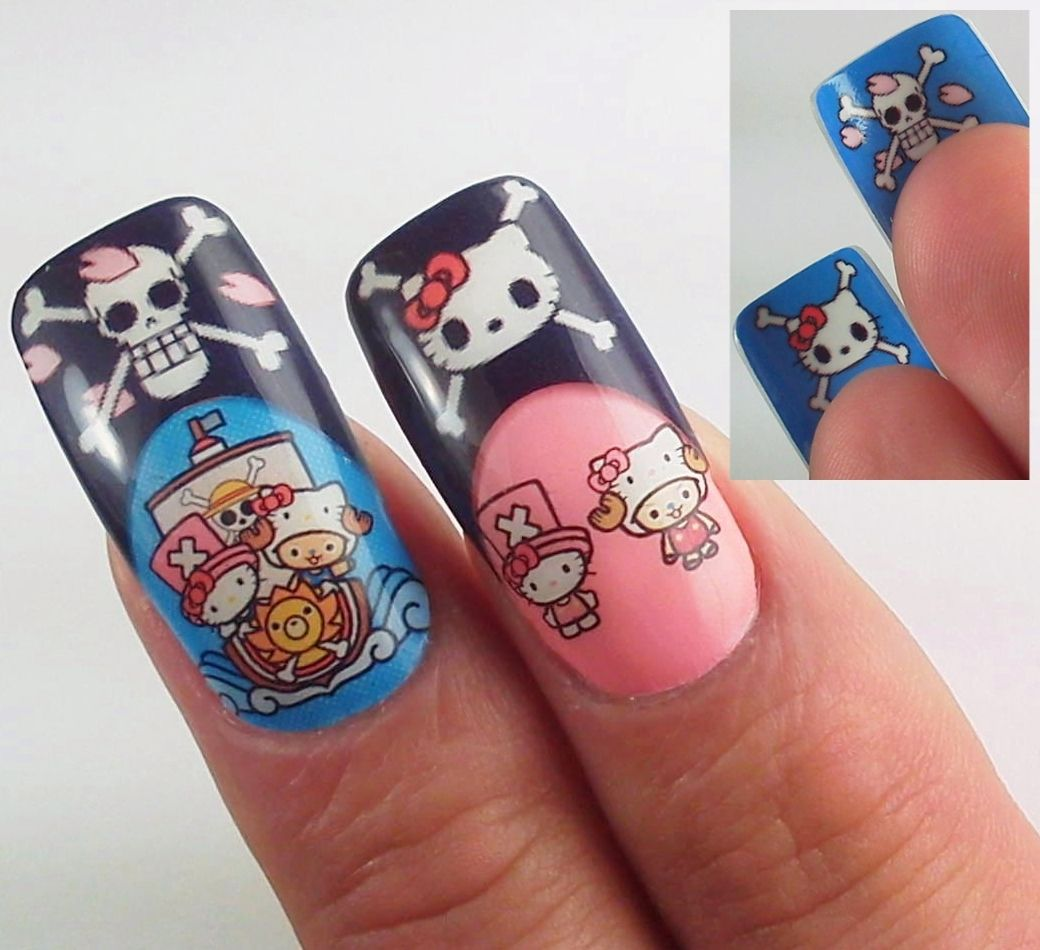 Japanese nail art. Hello Kitty x One Piece. | Nail designs ...