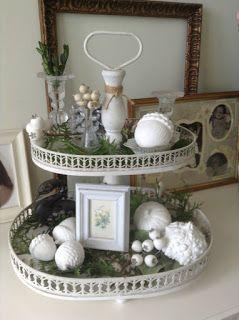 Selbst gemachte herbst k rbisse f r die innendekoration - Etagere weihnachtlich dekorieren ...
