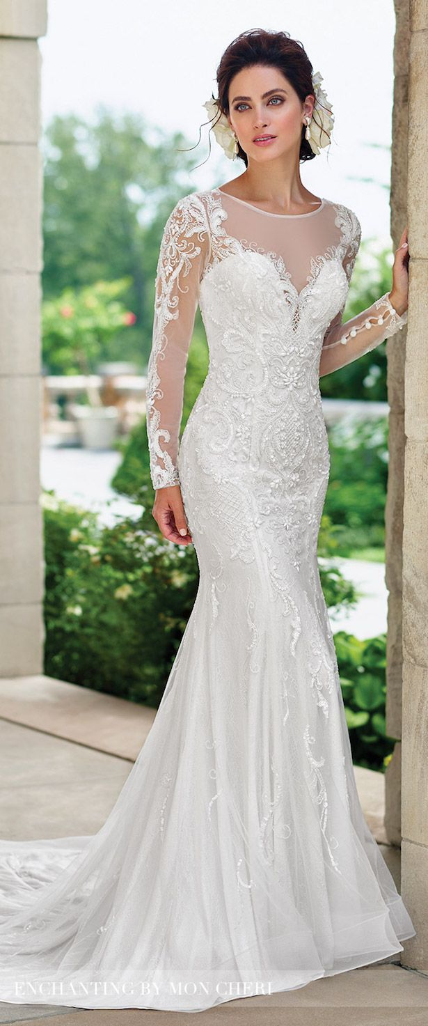 Bridal Trends 2017: Lace Illusion Sleeves With Mon Cheri Bridals ...