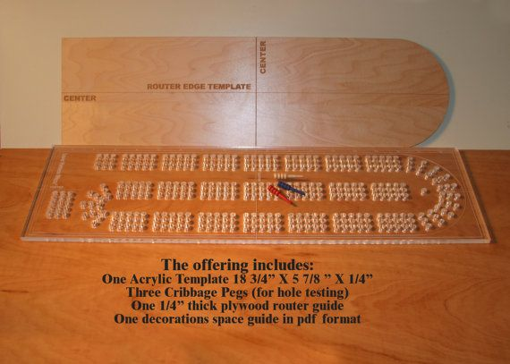 cribbage board drilling templates - acrylic cribbage board drilling template 1 4 inch thick