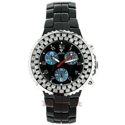 Ceramic Watches Aqua Master Diamond Watch 1.25ct Black