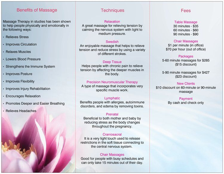 Massage Therapy Flyers   Invitation Templates